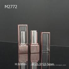 Square Pink Fashion Custom Empty Lipstick Tube With Window