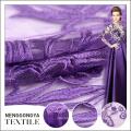China fábrica de alta qualidade de malha de poliéster tecido bordado africano
