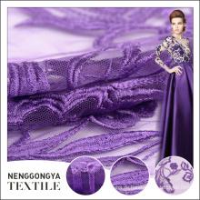 China Fabrik Hochwertige Polyester Mesh afrikanischen bestickten Stoff