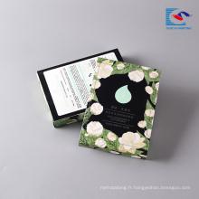 Boîte de cadeau cosmétique imprimée de papier d'emballage de logo pour le masque facial