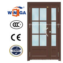 Outside Using House French Security Metal Steel Glass Door (W-GD-22)