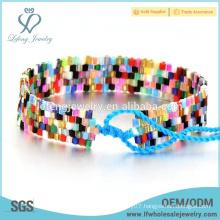 High quality diy bohemian jewelry rainbow color diy bohemian bracelet
