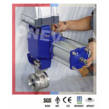 Pneumatic 304 Stainless Steel V Port Segment Ball Valve