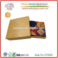 2015 Hot Sale High Quality Creative Puzzle Block Multicolor Wooden Puzzle YTS029