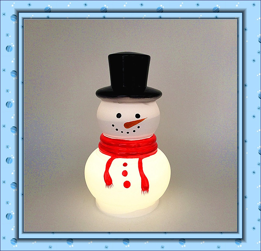 Snow man candle