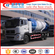 6*4 Drive Wheel Dongfeng Kinland Waste Vaccum Tanker