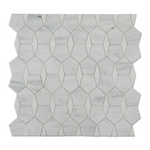 Soulscrafts Cheap White  Irregular Stained Glass Mosaic for Backspash