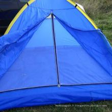 Tente familiale imperméable double couche extérieure camping instantané pour 4 personnes
