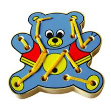 Juguete de madera de oso de lazo para el bebé (80161)