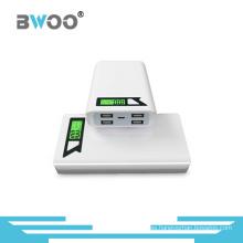 PowerBank 11000mAh portátil 4 cargador USB con pantalla