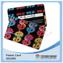Diseño diferente para tarjetas de regalo y membresía de PVC