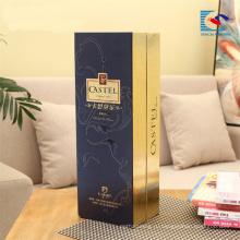 Роскошные пользовательские высокий конец стойки флип топ бумажная коробка вина подарка