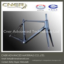 Fabrication sur commande type cadre en fibre de carbone pour vélo de route / montagne haute performance, partie en fibre de carbone