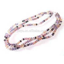 Multi Strang 8MM Kristall Perlen Halskette Glasperlen Halskette