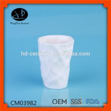 Belle tasse en céramique ailée sans tasse, tasse en céramique de luxe en porcelaine blanche