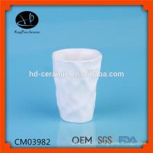 Beautiful ceramic winged without handle mug,Luxury Ceramic Mug White Porcelain