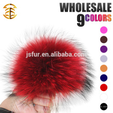 Neujahr Produkt Stilvolle Hut Zubehör Pelz Bälle Genuine Big Size 19cm Waschbär Pelz Pompom