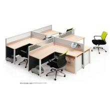 Cloison de bureau démontable verticale de 7 formes faciles à assembler de 4 stations de travail
