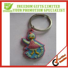 Fashional Style Top Quality Soft PVC Key Ring