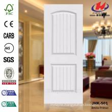 JHK-S01 Popular New Model Deep Groove Best Used Interior Door White Primer Door Skin