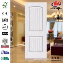 JHK-S01 Popular Novo Modelo Deep Groove Melhor Usado Interior Porta Branco Primer Door Skin