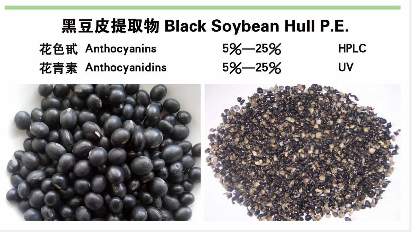 Black soybean hull