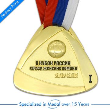 China Kundenspezifische Hochdruck-Druck-Stempel 3D-Basketball-Medaille in Zink-Legierung