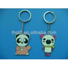 Soft enamel with custom cartoon design metal keychain/keyring