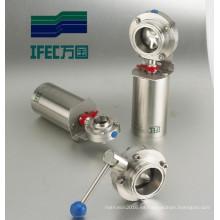 Válvula neumática sanitaria de acero inoxidable