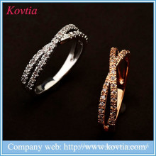 Bague de mariage en alibaba en gros anneaux en zircon en alliage fin anneau de fiançailles