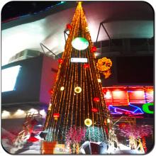 Árvore de Natal gigante de iluminação exterior comercial