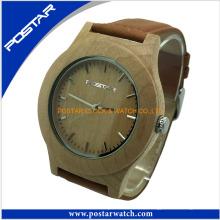 Reloj de madera de la muñeca del reloj de madera al por mayor natural 2016 para los hombres