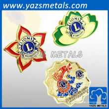 Custom Quality Quality Lion Ineralational Club badges / lapelas
