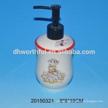Bathroom set ceramic lotion pump with monkey figure