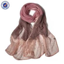 sws226 new arrival indian silk scar fpurple silk scarf woman camel printed scarf with manual nail bead
