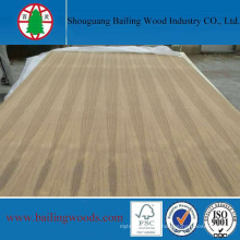 3.6mm Natural Teak Plywood in Straight Line