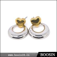 Boucle d'oreille Cercle creux en métal personnalisé # 21801