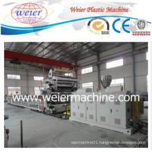 PVC Imitation Marbles Sheet Plastic Extruder Machine Production Line