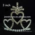 fashion metal silver plated crystal crown headband wholesaler