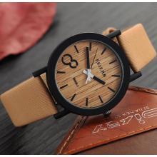 La cara de madera del color del cuero genuino de la nueva llegada japonesa Yxl-466 de Miyota 2035 relojes del movimiento mira la fábrica al por mayor