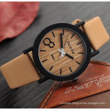 Yxl-466 New Arrival Japanese Miyota 2035 Movement Wristwatches Genuine Leather Wooden Color Face Watches Wholesale Factory