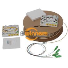 Glasfaser-Ausgangsbox mit 4 Ports