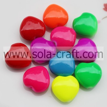 Reasonable 8*16MM Shinny Oiled Colorful Bracelet Heart Spacer Beads Wholesale