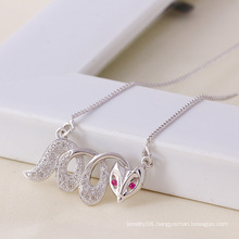 Xuping Foxtrel Neckalce with Rhodium Plated