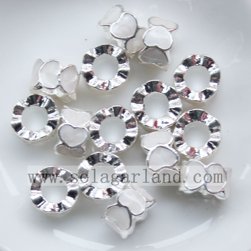 Heart Chunky Metal Beads