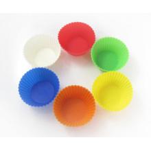 Tazas coloridas de la torta del silicón de la cocina de Bakeware
