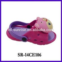 2014 fashion nice kids cartoon slipper
