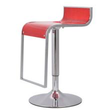 Moderne schwenkbar Chrom Bar Stuhl mit Acryl Bar Sitz
