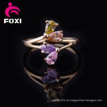 El último diseño 18k anillos de joyería chapados en oro