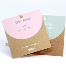 Custom brown kraft clothing hang tag recycled paper tag swing label
